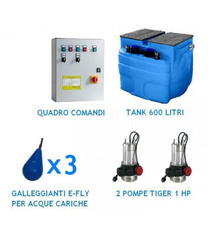 Stazione automatica di sollevamento 600 con 2 pompe 1 Hp